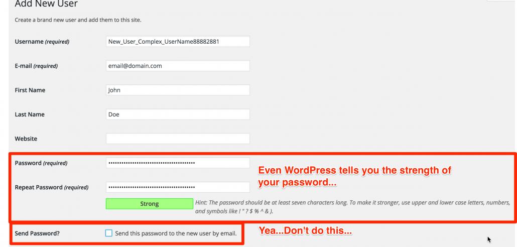 Add New User LoDo Web WordPress Security Strategies