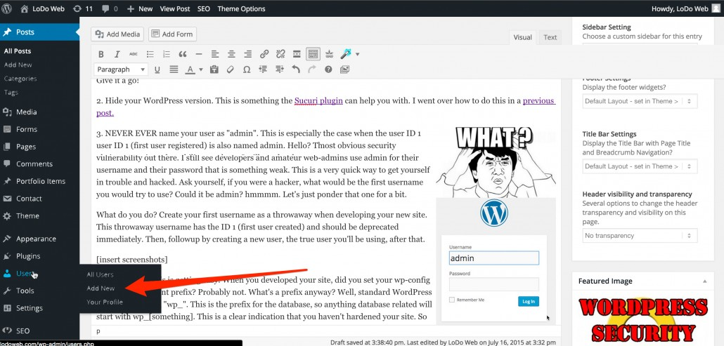 WordPress_Security_Strategies_LoDoWeb_Add_User