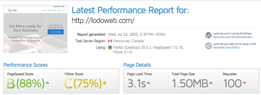 LoDo_Web_Site_Speed_Test
